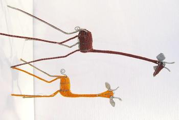 Giraffe - bead and wire work