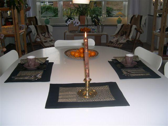 Tablemats and napkins -Swahilidesign